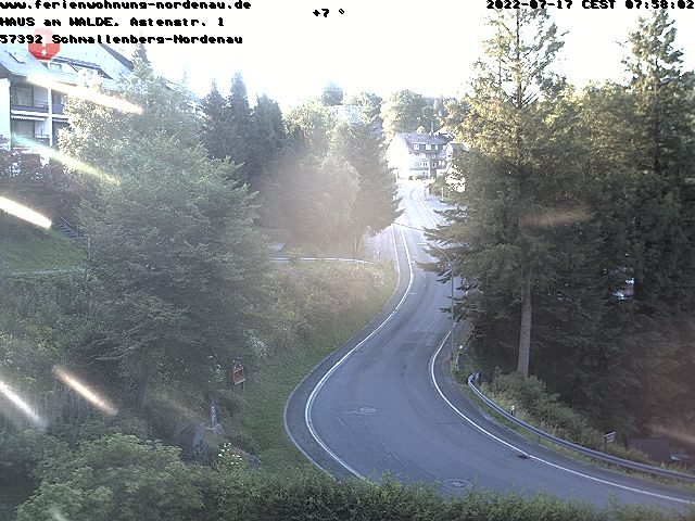 Webcam Schmallenberg - Kreisstraße K18, Nordenau